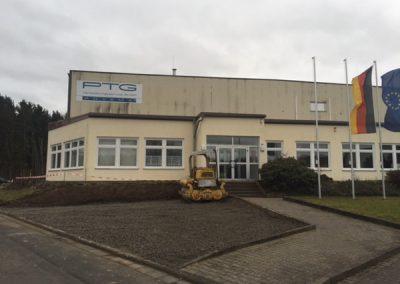 Industriehalle vorher