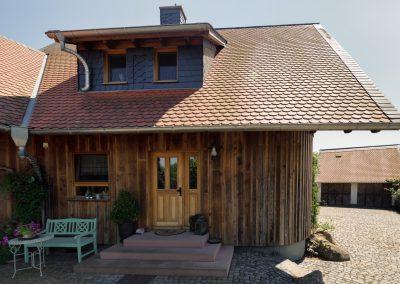 Holzhaus nach Fertigstellung